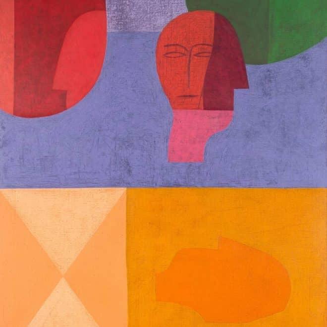Pélagie, 08.10.17, gouache et huile sur toile, 130 x 97 cm