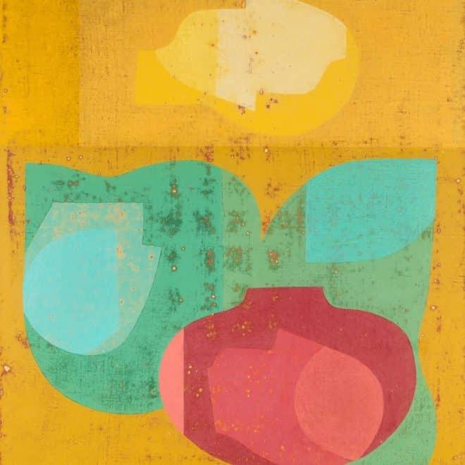 Gonzague, 21.06.03, acrylique sur toile, 90 x 90 cm