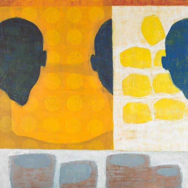 Paysage gris (Guadalupe), 21.06.03, pigment et feu sur papier, pigments sur papier